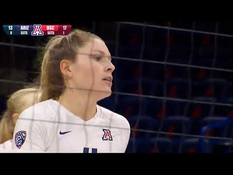 Women's Volleyball: USC 3, Arizona 2 - Highlights 11/16/18