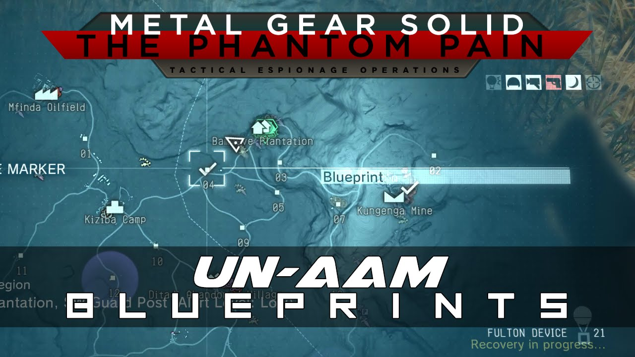 Mgsv the phantom pain un aam weapon blueprint location guide youtube malvernweather Image collections