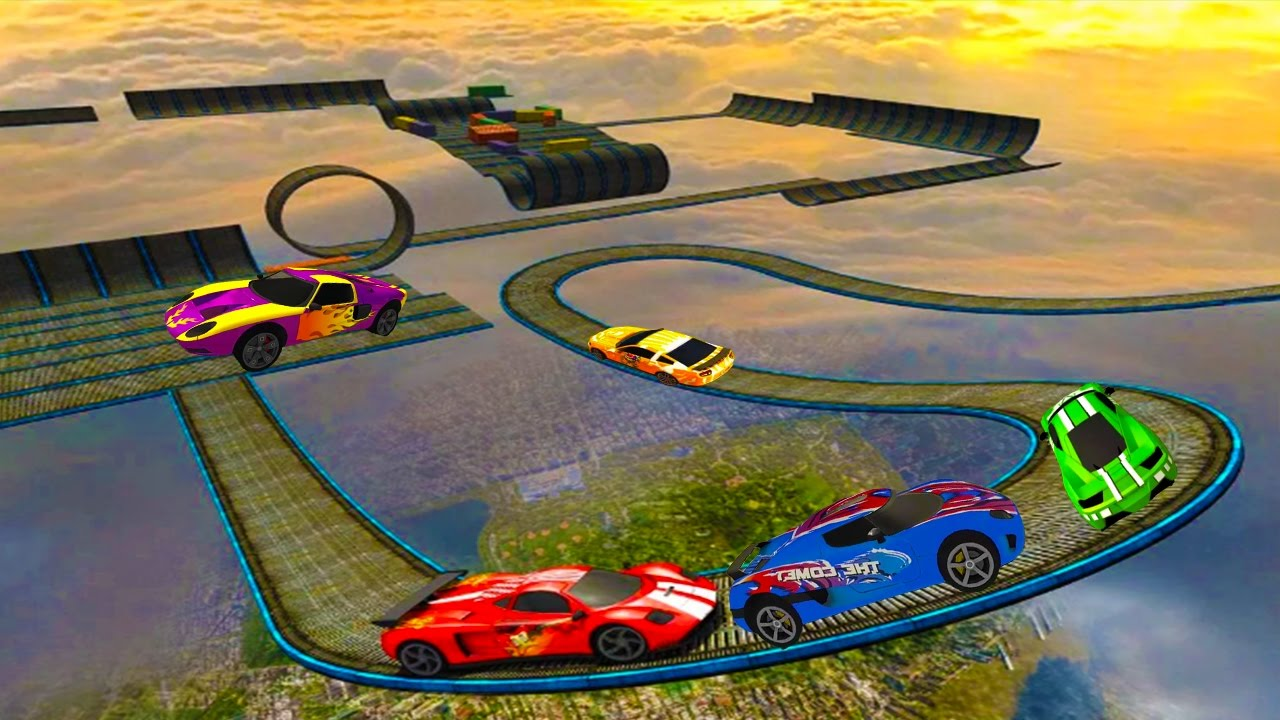 Impossible Stunt Car Tracks 3D Game Complete All Vehicles Unlocked & All Levels - Android GamePl