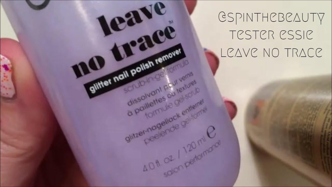Essie Leave No Trace glitter nail polish remover - YouTube