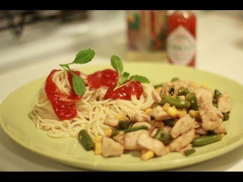 Курица с овощами. Быстрое жаркое.