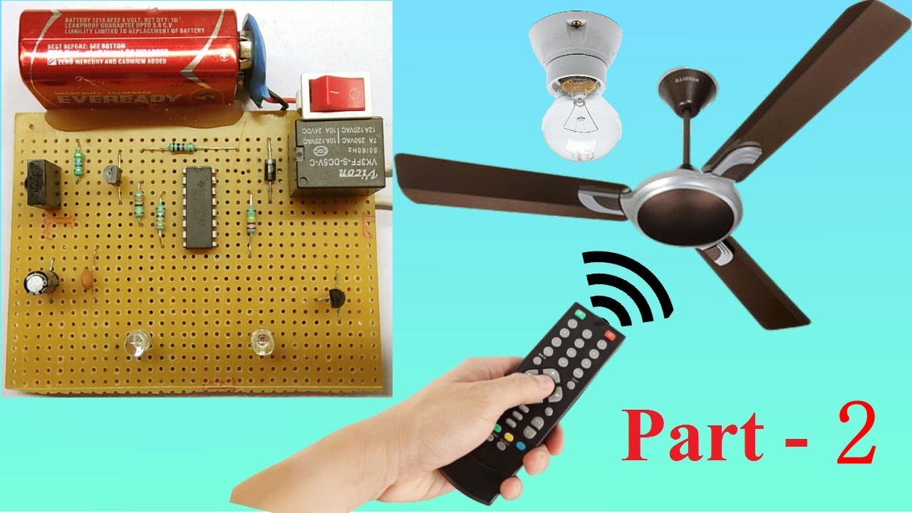control fan and light using tv remote   part-2