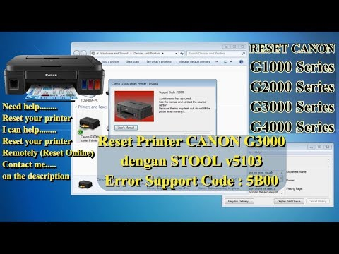 Reset Printer CANON Support Code Error 5B00, The Ink