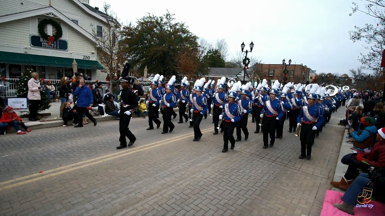 Cary Christmas Parade 2019 Athens Drive HS Marching Band in the 2018 Cary Christmas Parade