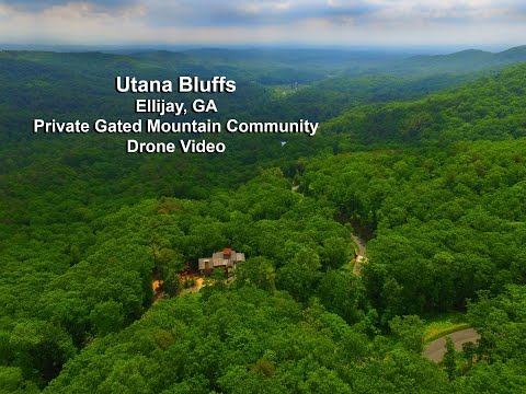 Ellijay Georgia Gated Home Community Drone Video - CINDY GENTRY