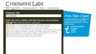 الكلمات المتقاطعة مختبرات: كيفية إنشاء لغز الكلمات المتقاطعة.