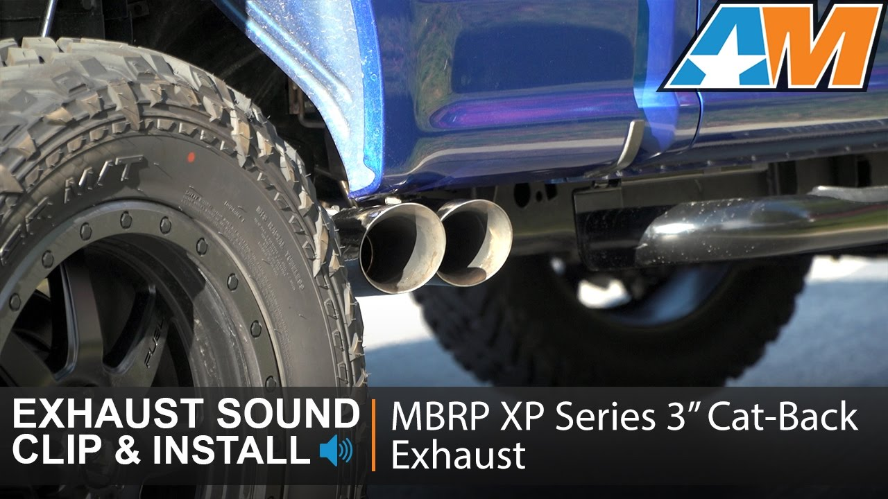 2015 2017 f 150 mbrp xp series 3 cat back exhaust 3 5l ecoboost sound clip install