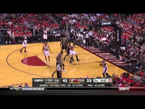 NBA, playoff 2014, Spurs vs. Trail Blazers, Round 2, Game 3, Move 16, Portland Trail Blazers, bMove