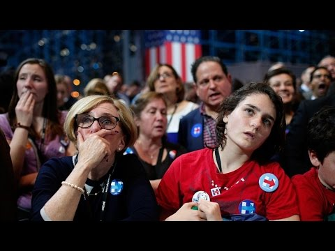 Hillary Clinton Supporters Cry Watch Election Results Democratic Presidential Jacob Javits Center