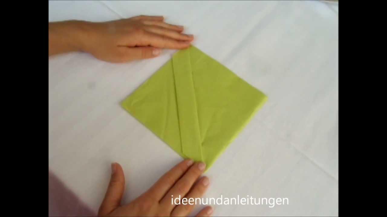 Servietten falten hochzeit tischdeko selber machen youtube for Servietten tischdeko