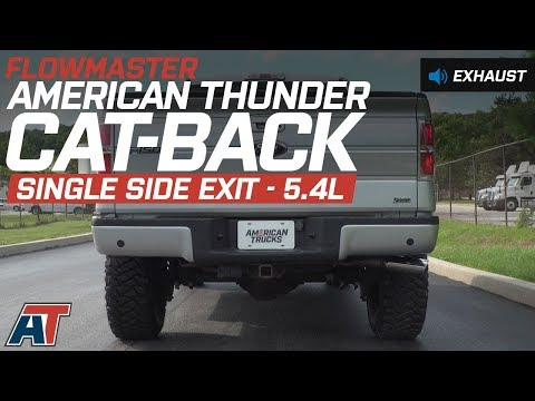 2009-2010 F150 Flowmaster American Thunder Cat-Back Exhaust 5.4L Sound Clip & Install