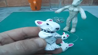 Air Drying Clay Creations English Bull Terrier Characters
