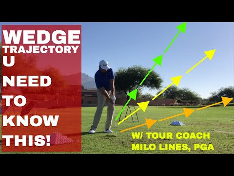 How to control Wedge Trajectory is KEY to going REALLY low MILO LINES, PGA | BE BETTER GOLF