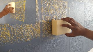 HOW TO MAKE A TEXTURE DESIGN ON WALL PUTTY