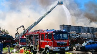 Großbrand auf Recyclinghof in Essen | 23.07.2019