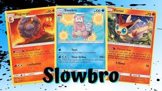 Slowbro Three Strike Gamble Budget Build Unbroken Bonds Deck, PTCGO Gameplay