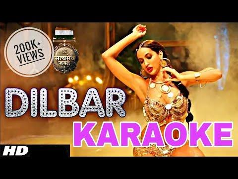 DILBAR - NEHA KAKKAR || Karaoke With Lyrics || Ikka || BasserMusic || Bollywood Karaoke 2018