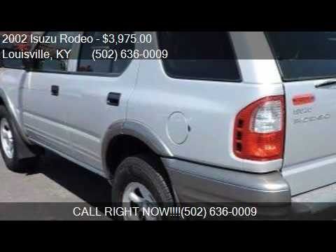2002 isuzu rodeo s v6 4wd 4dr suv for sale in louisville ky youtube. Black Bedroom Furniture Sets. Home Design Ideas