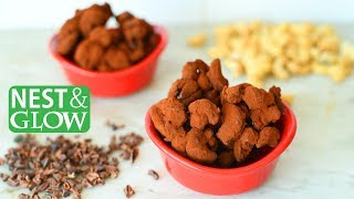 How to Make 3-Ingredient Cacao Dusted Cashews - Dairy-free and Healthy