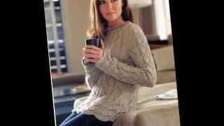 Элегантные вязаные женские пуловеры