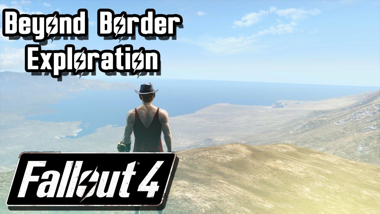 Fallout 4 Outside Accessible Map Exploration Beyond Fallout 4 Secretive Border 1 Youtube