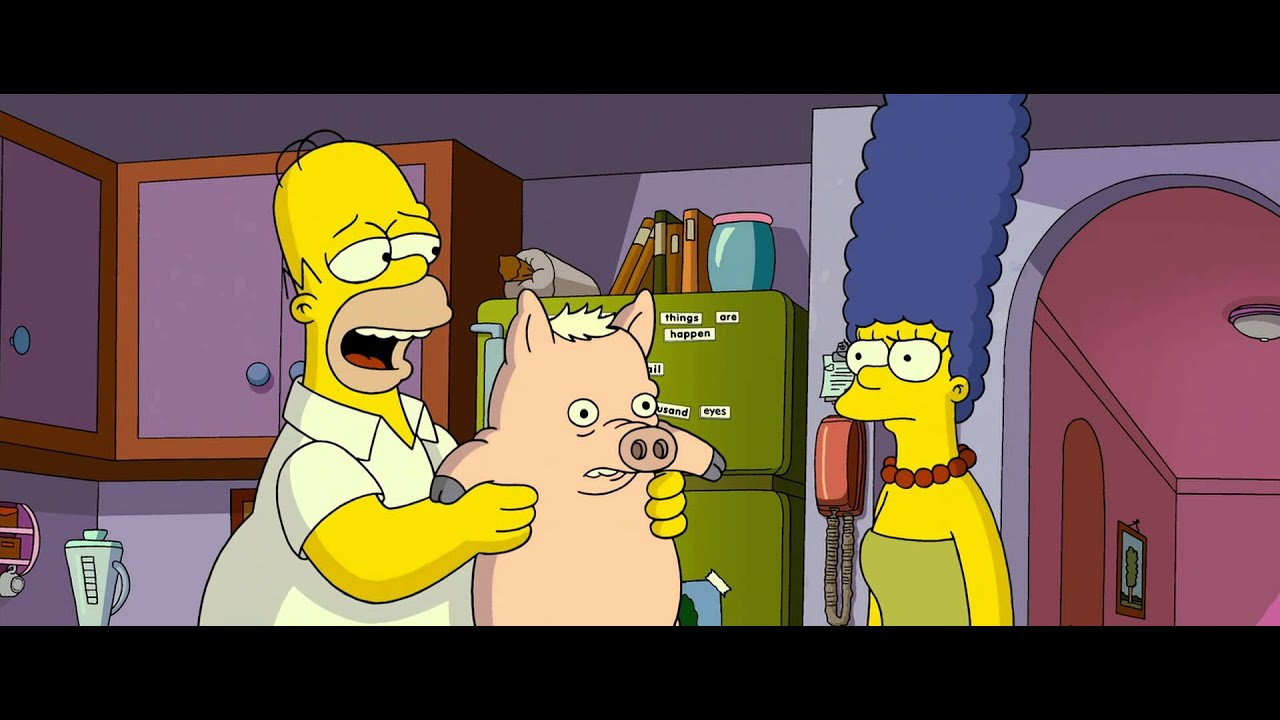 Spider Pig Marge And Homer Impression Youtube