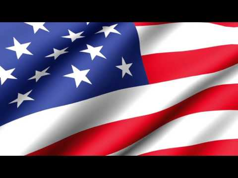 [10 Hours] American Flag Waving (Animated) Video & Audio [10