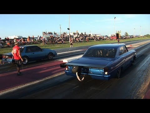"Drag Racing on 28"" Slicks - US 36 Raceway"