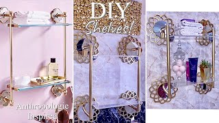 DOLLAR TREE MIRROR SHELVE DESIGN| DIY GLASS SHELVES ON A BUDGET!