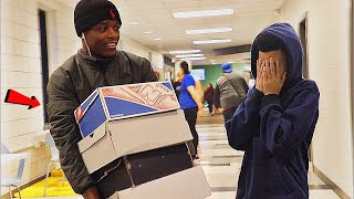 Surprising A Kid Who Gets Bullied With An ENTIRE Sneaker Collection!!!