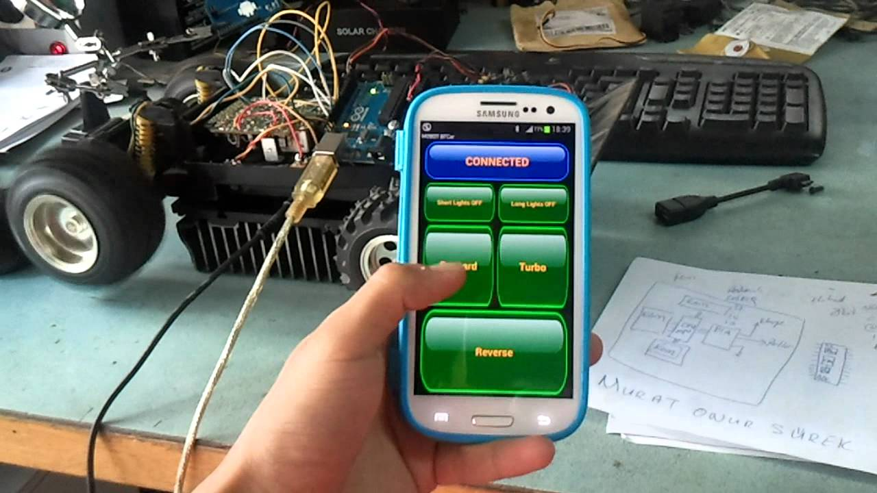 Android arduino bluetooth rc car control murat onur