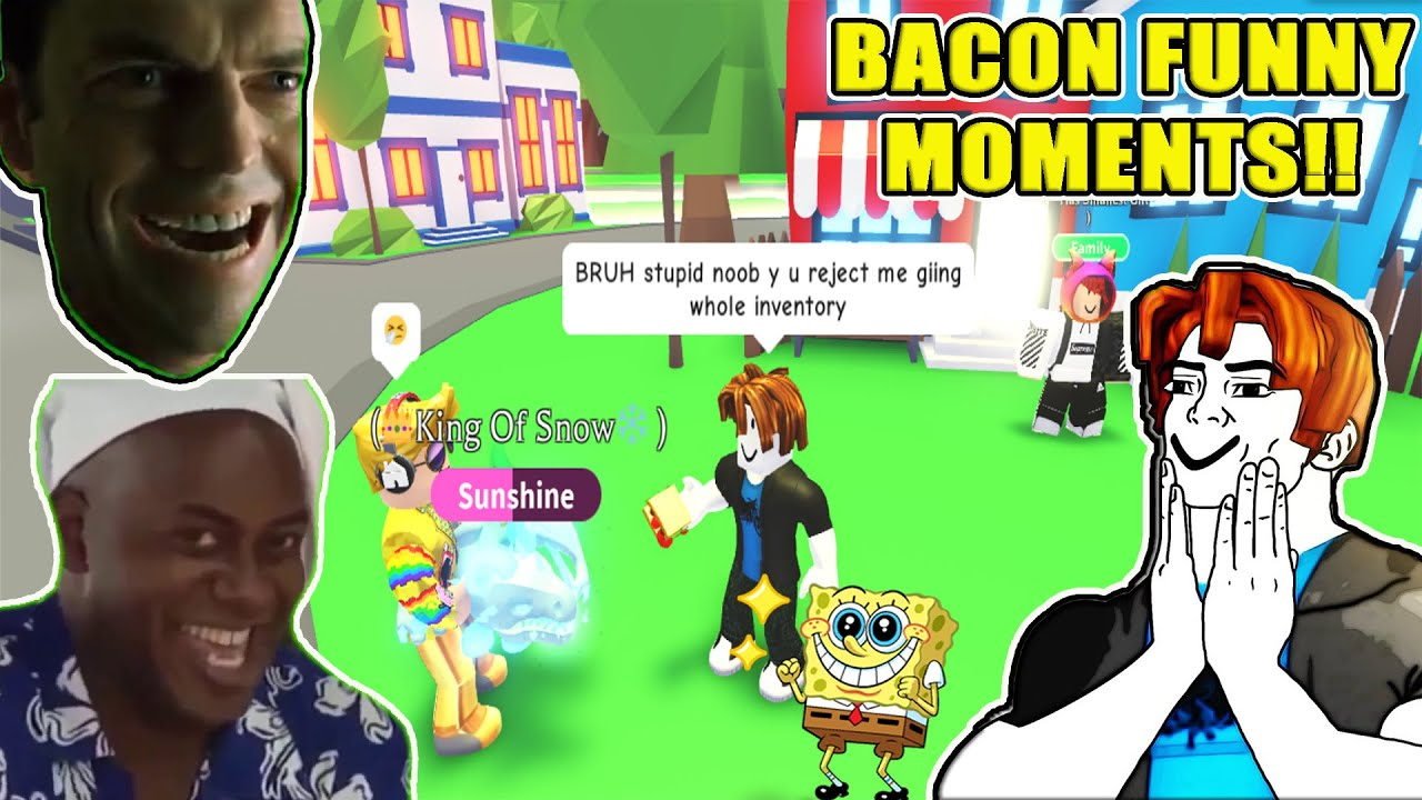 Bacon Funny Moments In A Rich Adopt Me Server | Roblox