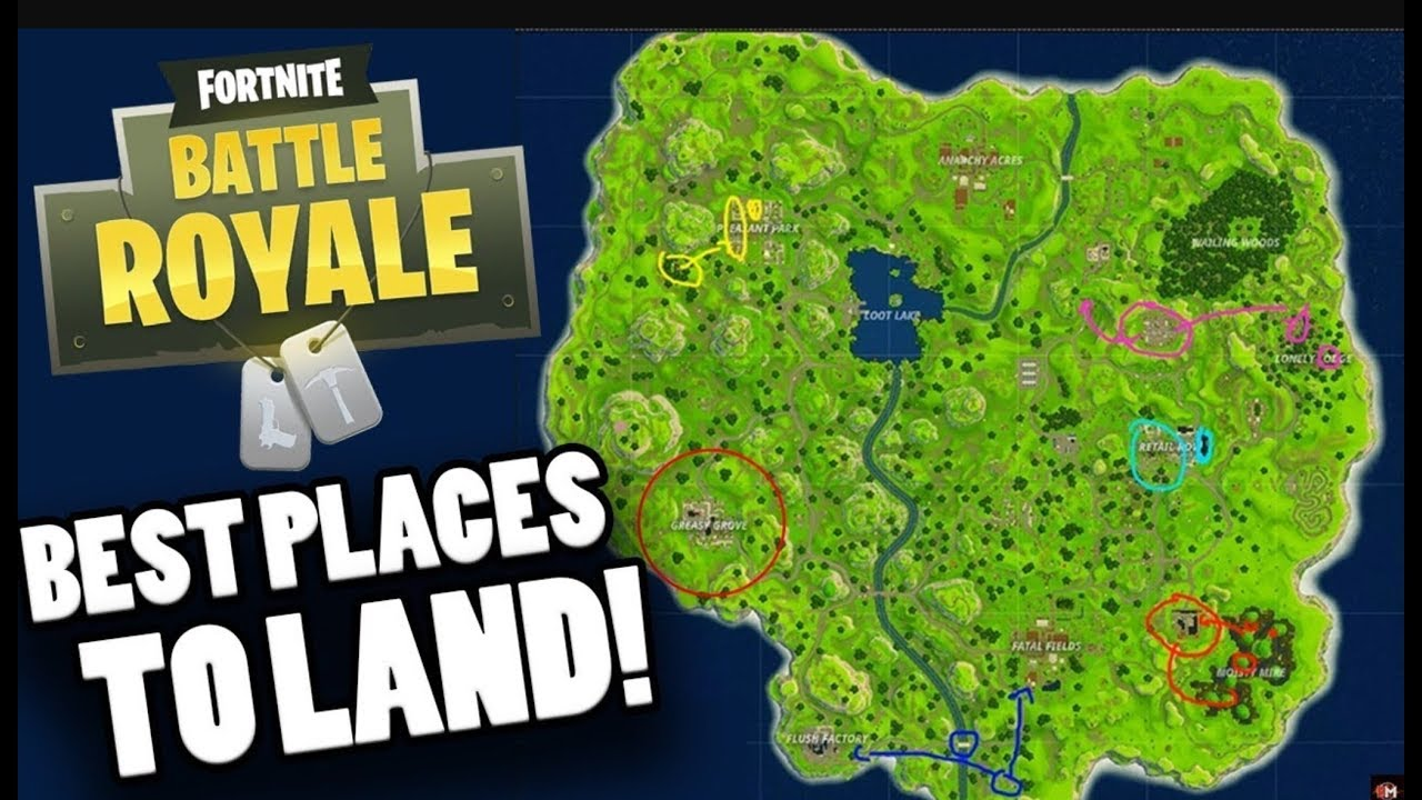 THE BEST PLACE TO FIND THE BEST LOOT ON FORTNITE (ATLEAST