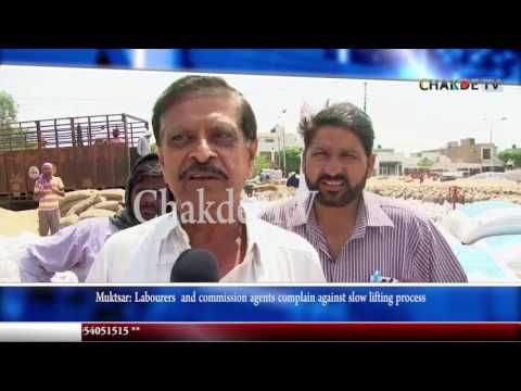 Muktsar: Labourers  and commission agents complain against slow lifting process