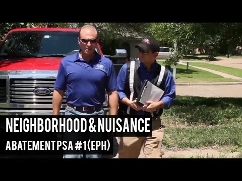 Neighborhood & Nuisance Abatement PSA #1 (EPH)