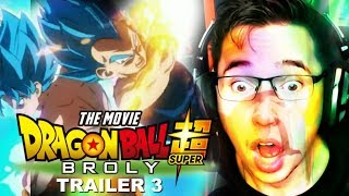 Dragon ball Super: Broly MOVIE Trailer 3 REACTION!!!!!