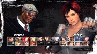 Mila vs. Zack - Dead or Alive 5 Gameplay (Xbox 360)