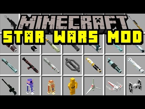 Minecraft STAR WARS MOD! | TIE FIGHTERS, X-WING, SPACE SHIPS, GUNS, BB8, & MORE! | Modded Mini-Game