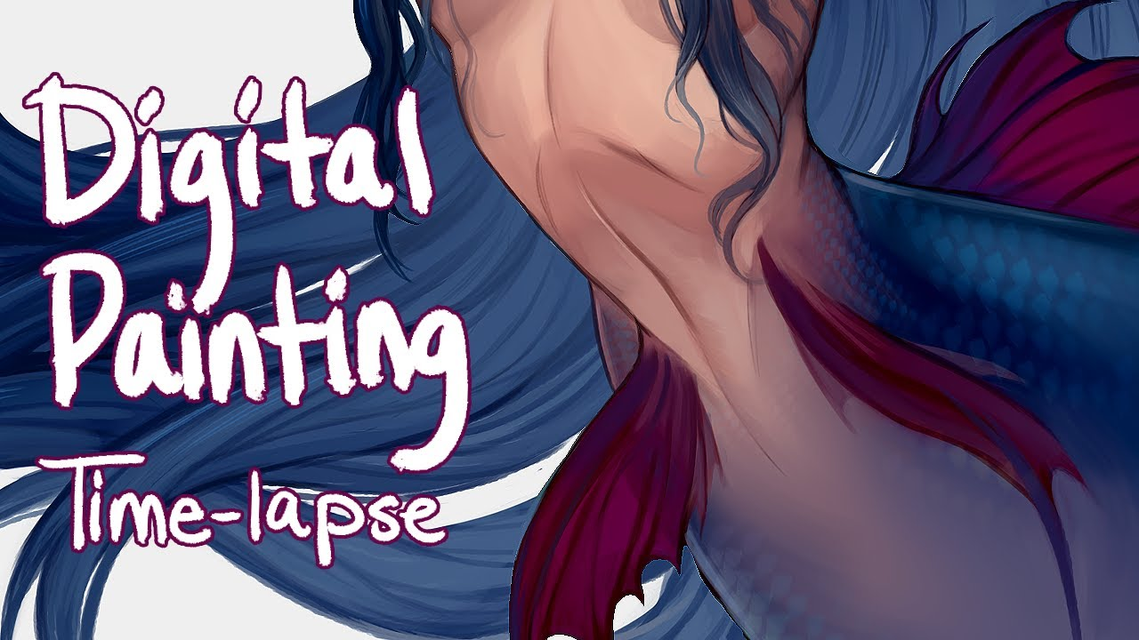 Digitally painting a Mermaid! – Time Lapse Illustration
