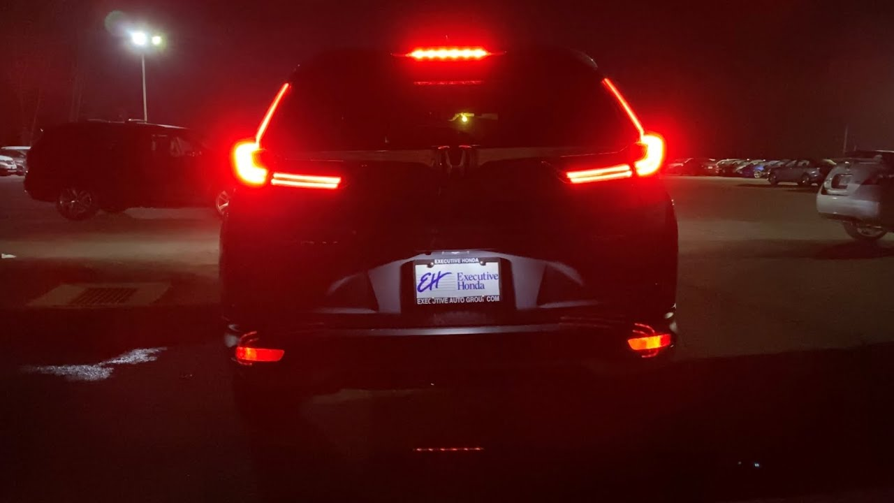 at night honda cr v 2020 interior and exterior lighting