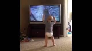 Baby imitates Rocky (Full Video)