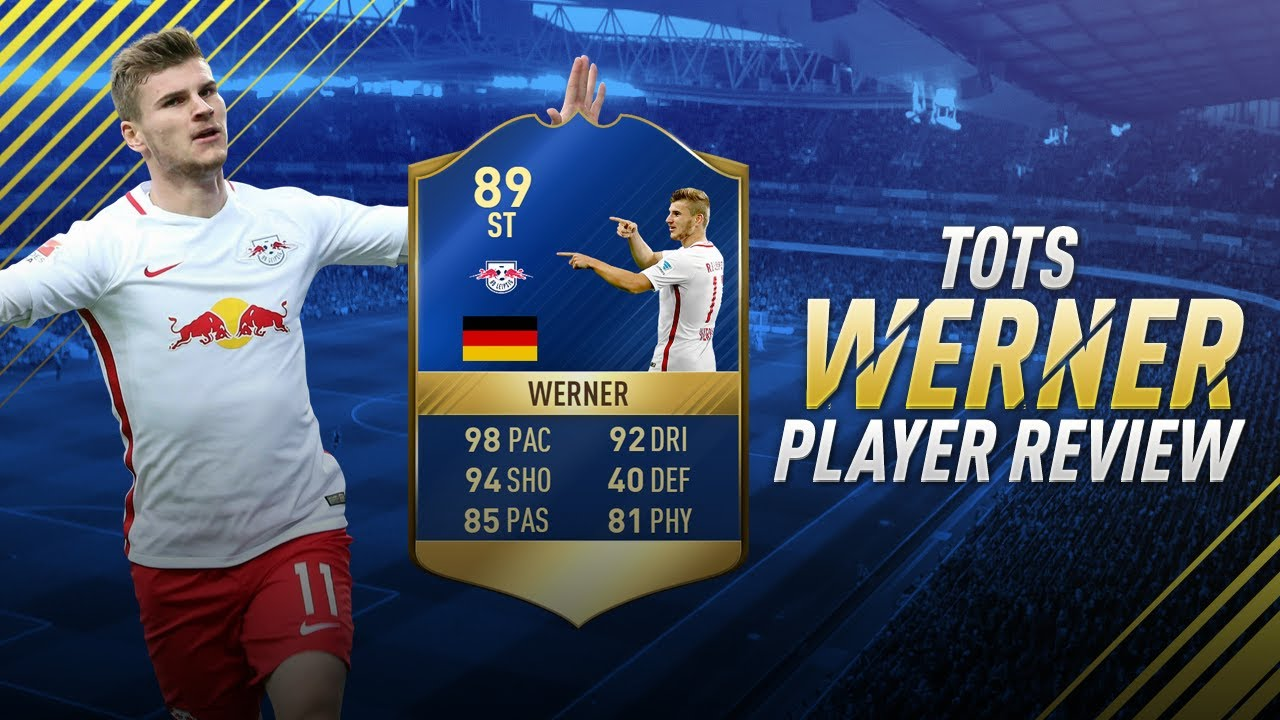 new arrival 48020 d9cda FIFA 17 TOTS WERNER REVIEW - FIFA 17 89 TEAM OF THE SEASON TIMO WERNER  PLAYER REVIEW