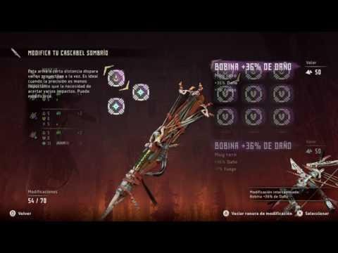 Horizon Zero Dawn Como hacer a tus armas ULTRA PODEROSAS! Mejores combinaciones.