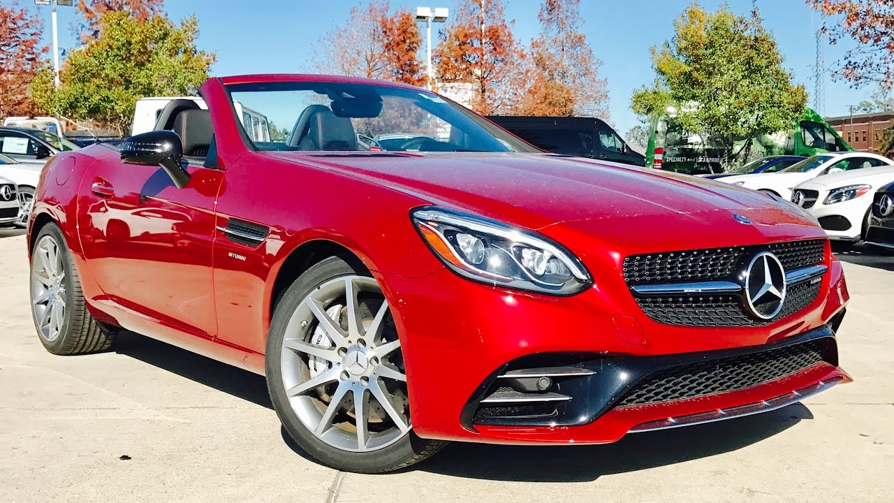 2017 Mercedes Benz Amg Slc43 Roadster Full Review Exhaust Start Up You