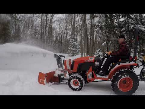 #135 Kubota B2601 Compact Tractor B2782B Front Mount Snowblower. Admitting Defeat Is Never Easy!