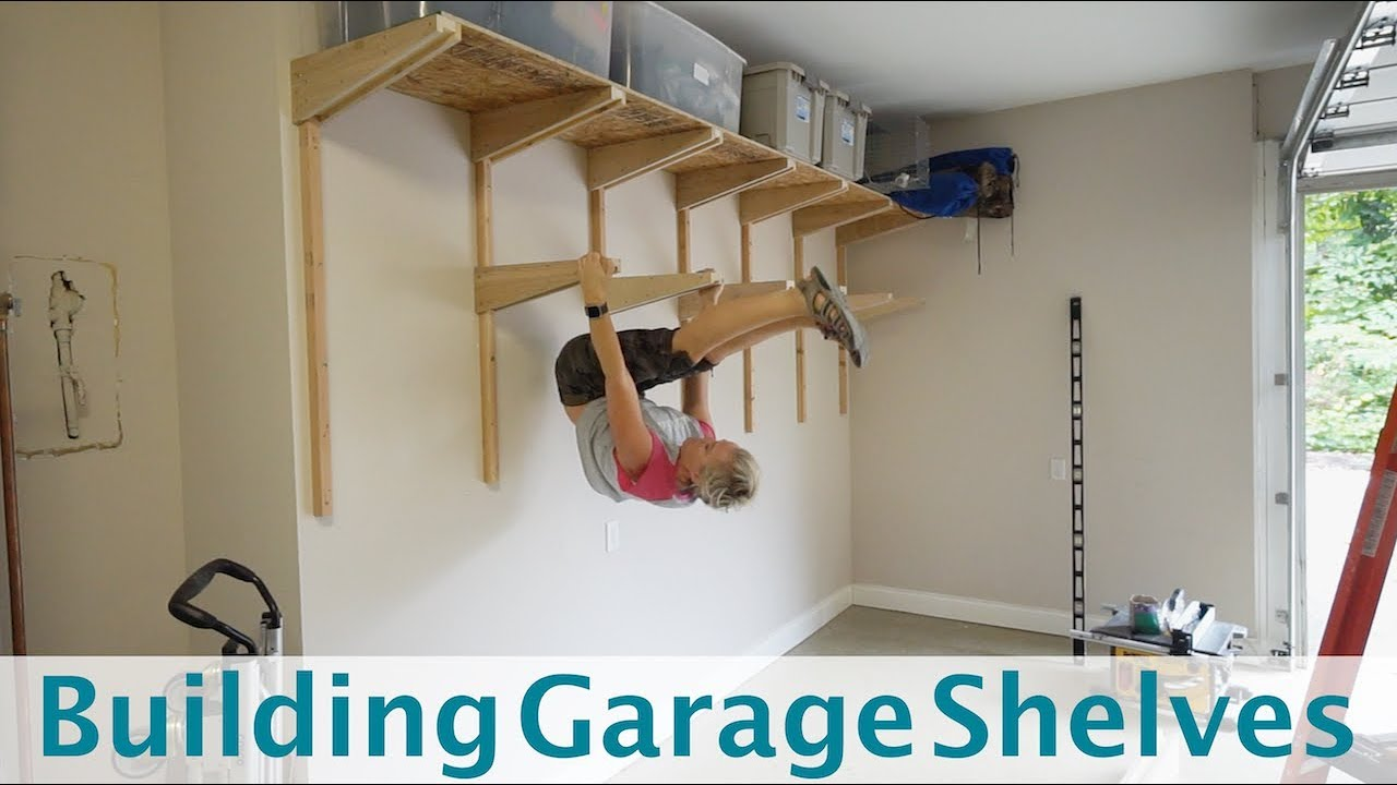 Building Garage Shelves Cantilevered Shelf Brackets