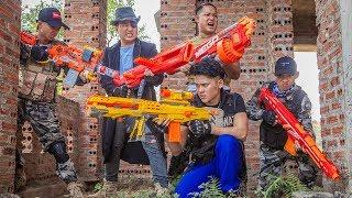 LTT Nerf War : SEAL X Warriors Nerf Guns Fight Crime Group Dr Lee Shooter Knight Mega