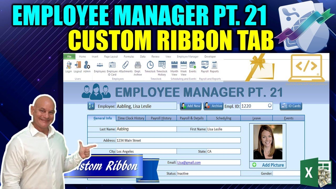 Create Your Own Excel Custom Ribbon Tab From Scratch [Employee Manager Pt   21- FINAL]