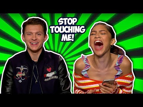 Tom Holland & Zendaya Making Each Other Laugh So Hard Spider-Man: Far From Home