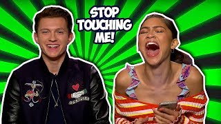 Tom Holland & Zendaya Making Each Other Laugh So Hard (spider Man: Far From Home)